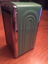 1996 Fiesta Ware Homer Laughlin ~ 1950s Retro Style Napkin Dispenser, green