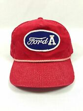 VINTAGE FORD A YOUNGAN HEADWEAR SPORTS SNAPBACK HAT CAP TRUCKER CORDUROY RED