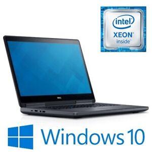 """Dell Precision 7520 Xeon E3-1545Mv5 32G 256G NVMe 500G Quadro M1200 15.6"""" Win 10"""