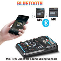 50W 4/6 CH USB Musical Mini Mixer Charger for Music Recording /Webcast /Singing