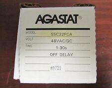 AGASTAT TYCO Off Delay Timer Relay 48 VAC VDC 1-30 Sec SSC22FCA