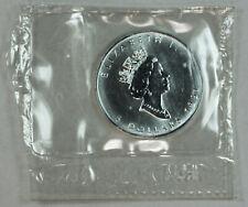 1991 UNCIRCULATED CANADIAN MAPLE LEAF, 1oz 0.9999 FINE SILVER