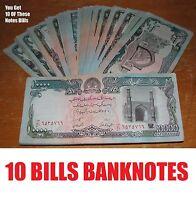 10 pcs Afghanistan Taliban Banknote Paper Money Afghani Currency Note Bills Afg