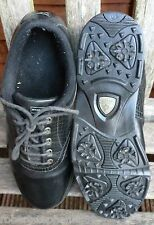 DUNLOP GOLF SHOES SIZE 8  BLACK SOFT SPIKES GOOD CONDITION.