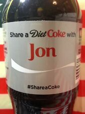 Share A Diet Coke With Jon Limited Edition Coca Cola Bottle 2014 USA