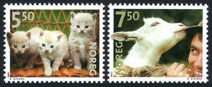 Norway 1316-1317, MNH. Pets. Kittens, Goat, 2001