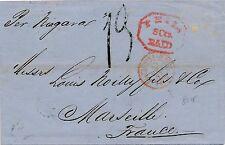 Lettre Philadelphie Etats-Unis.PAQ Brit Paris Rouge Cover United State