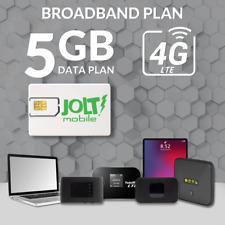 Jolt Mobile 5Gb WiFi MiFi Router Data Sim Card | 5G 4G Lte Broadband | IoT At&T