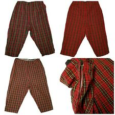 Lot of 3 1960s handmade Mens Plaid Long Skate Board Shorts Punk Rock Goth 29