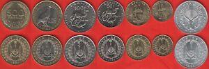 Djibouti set of 7 coins: 5 - 500 francs 1991-2013 UNC
