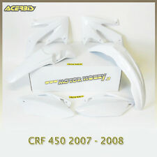 KIT PLASTICHE  ACERBIS HONDA CRF 450 2007 -2008 COLORE BIANCO