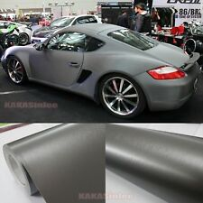 Entire Car Wrap -Metallic Matte Brushed D Grey Vinyl Steel Sticker 50FT x 5FT AB