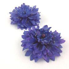 Cornflower Silk Flower Bridal Hair Accessories With Clip Pack of 2