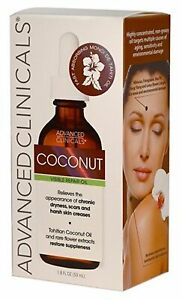 Advanced Clinicals Visible RepairTahitian Coconut Oil 1.8oz NEW FREE SHIPPPNG f3