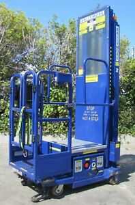 2012 Ballymore PS-140L Manlift Aerial Boom Personnel Platform Lift 13.5' Height