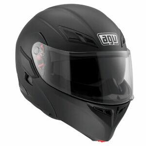 AGV Compact ST Mono Matt Black Motorbike Motorcycle Flip Front Helmet