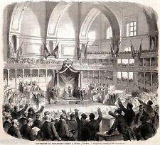 TORINO:Apertura Parlamento del Regno di Sardegna.Risorgimento.Stampa Antica.1860