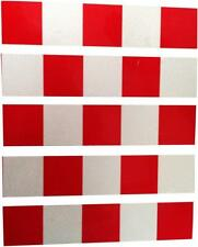 High Visibilty Reflective Red White Chequer Bike, Cycle, Helmet tape 5 strips