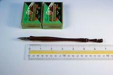 Custom Dip Pen Holder & Two 1-Gross Boxes No. 171 Ef Dip Pen Nibs (Set 8)
