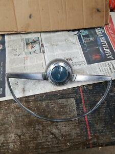 1965 CHROME PONTIAC HORN RING BUTTON VINTAGE FIND GM PART NUMBER 9779592 USED