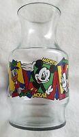 Walt Disney Mickey Mouse  Minnie Donald Duck Glass Juice Pitcher Vase