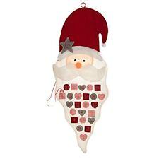 Large Hanging Advent Christmas Calendar DIY Fill Yourself Pockets Santa Felt