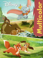 Multicolor Malbuch - Dumbo, Bambi, Cap & Capper von Disney Enterprises #598401