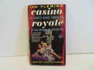 "Ian Fleming, Casino Royale,"" 1960, Signet S1762, VG, 1st US"