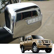 Fit 2002-2006 Isuzu Colorado D-max Mirror Cover Chrome Side trian LH+RH Pair