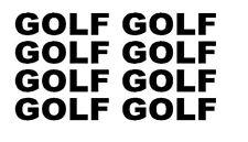 X8 Golf (65X15mm) cada rueda Pegatinas Parabrisas/panel De Parachoques Pegatina Calcomanía
