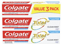 Colgate Total Toothpaste, Clean Mint - 4.8 oz (3 Pack)
