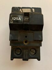 Crouse Hinds 125 Amp Double Pole 2P 125A Plug In Circuit Breaker Tested