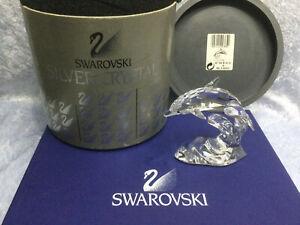 Swarovski Crystal Dolphin 7644000001 190365. Retired 2011. MIB