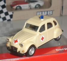 HERPA 049016 VOITURE CITROEN 2CV DRK RED CROSS CROIX ROUGE SCALE 1:87 HO NEW OVP