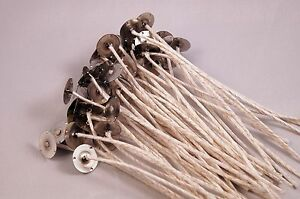 "WICKS - HTP-1212 XL cotton tabbed Candle Wicks ~ 6"" Long Great for Soy Wax"