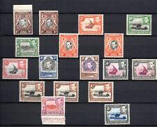 Kenya, Uganda & Tanganyika (6902) 1938 set + extra shades Sg 131-147a out of