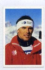 (Jh475-100) RARE,Trade Card Booster of Peter Wirnsberger,Skier  1986 MINT