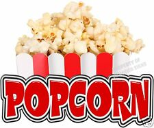 "Popcorn 24"" Decal Concession Food Truck Cart Trailer Restaurant Vinyl Menu Sign"