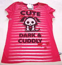 Skelanimals Dax The Dog Ladies Pink Printed Short Sleeve T Shirt Size M New