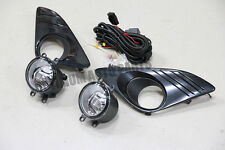 Fog Lights Lamps Complete Kit Black Cover To suit Toyota Camry 2012-2014
