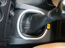 BLACK LEATHER GEAR STICK GAITER FOR LAND ROVER FREELANDER 2003-2005 MANUAL