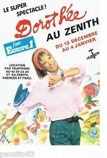 PUBLICITE ADVERTISING 126  1986  Dorothée concert au Zenith & radio Europe 1
