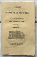 Annales de Chimie Physique 1837 Arago Dufrénoy Indiens de Pastò Graham