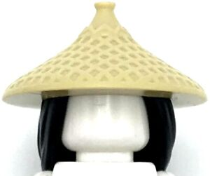 Lego New Black Minifigure Hair Combo Hair with Conical Hat Long Hair with Braid