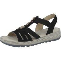 Rieker Morokko Women Damen Schuhe Antistress Sandalen Sandaletten black V8706-00