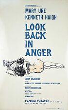 Orig Broadway Window Card Poster Look Back in Anger David Merrick