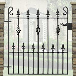 Spear Head Pedestrian Gate | Wrought Iron Metal Steel Gates | 3ft 3in Opening