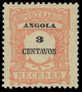 """ANGOLA J24 - Numeral of Value """"Postage Due"""" (pf32875)"""