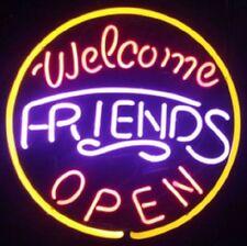 "New Welcome Friends Open Beer Man Cave Neon Light Sign 16""x16"""