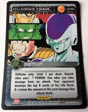 Dragon Ball Z DBZ CCG Tcg Panini Ultra Rare U162 Villainous Visage Set 1!